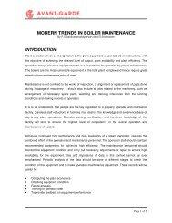 Modern Trends in Boiler Maintenance - Avant-Garde Engineers ...