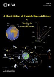 A Short History of Swedish Space Activities - ESA