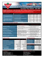 Fact Sheet - Canadian Tire Corporation