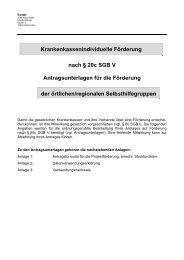 Krankenkassenindividuelle Förderung nach § 20c SGB V ...