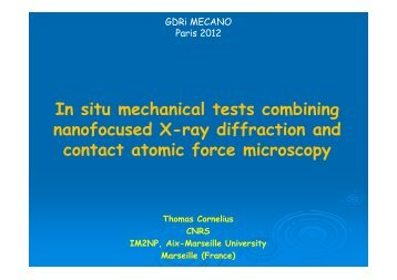 In situ mechanical tests combining nanofocused X ... - IM2NP