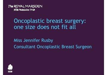 Oncoplastic breast surgery - The Royal Marsden
