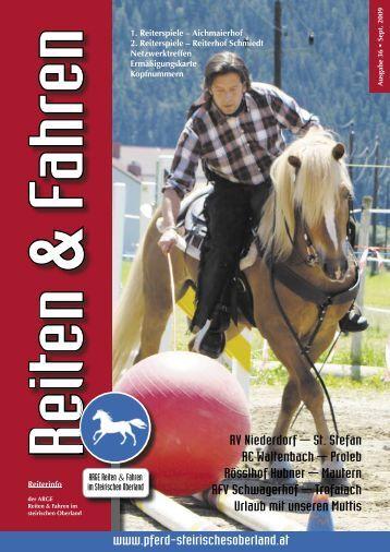 Zeitung downloaden - ARGE,Reiten und Fahren im Steirischen ...