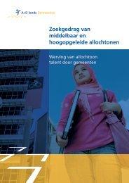Zoekgedrag van middelbaar en hoogopgeleide allochtonen - Forum ...