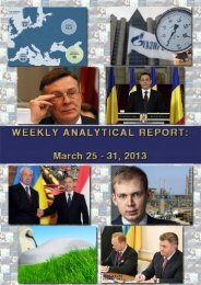 Weekly analytical report: March 25 - 31, 2013 - Українська ...