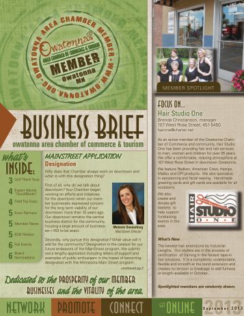 Download PDF - Owatonna Chamber of Commerce and Tourism