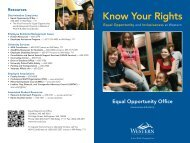 Know Your Rights - Western Washington University