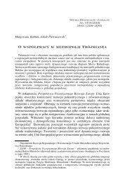 O współpracy w metropolii Trójmiasta - Studia Regionalne i Lokalne