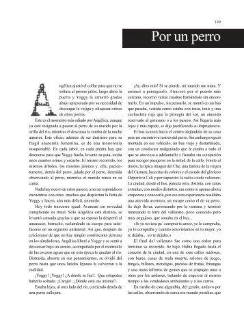 Por un perro - Revista La Manzana de la Discordia