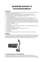 Einleitung HINWEIS 1. Hardware-Einbau und Konfiguration - Amiga ...