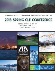 2013 Spring CLE Conference - American Bar Association