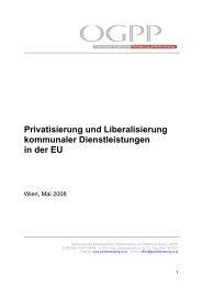 Privatisierung und Liberalisierung kommunaler Dienstleistungen in ...