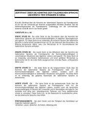 zertifikat über die kenntnis der italienischen sprache universita' per ...