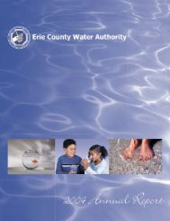 2004 Annual Report - Erie County Water Authority