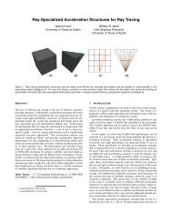 Ray-Specialized Acceleration Structures for Ray Tracing