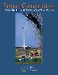 Smart Generation - Powering Ontario with Renewable Energy