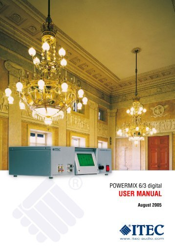 POWERMIX 6/3 digital USER MANUAL - Itec