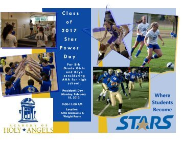 Class o f     2017 Star Power Day - The Academy of Holy Angels