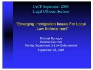 Emerging Immigration Issues for Local Law Enforcement