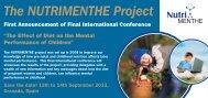 NUTRIMENTHE Final International Conference