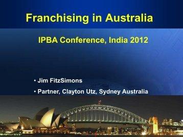 Franchising in Australia - IPBA 2012