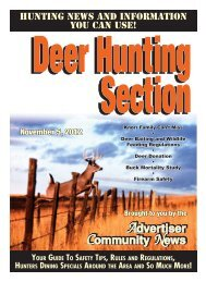 2012 Deer Hunting Section - Advertiser Community News