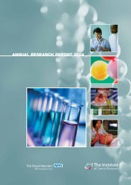 Joint Annual Research Report 2004 - The Royal Marsden