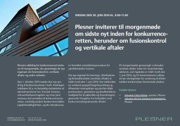 retten, herunder om fusionskontrol og vertikale aftaler - Plesner