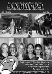 Blickwinkel Ausgabe 2004 / 01 - JU Stormarn