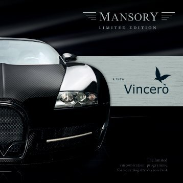 The limited customization programme for your Bugatti ... - Mansory