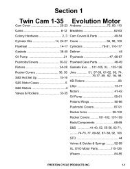Section 1 Twin Cam 1-35 Evolution Motor - PrestonCycle