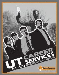 Recruiter Guide for the On Campus Visit (maps ... - Career Services