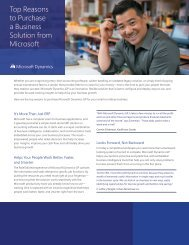 Top Reasons to Purchase a Business Solution from Microsoft - Tensoft