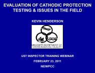 evaluation of cathodic protection testing & issues in the ... - NEIWPCC