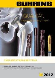 implantatbearbeitung - Gühring oHG