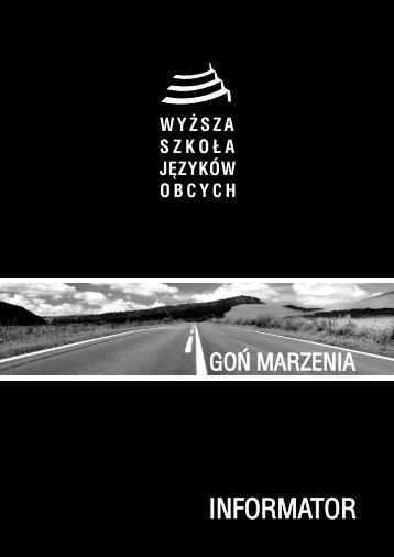 Informator 2013 - Wyższa Szkoła Języków Obcych w Poznaniu