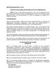 MERCOSUR/GMC/RES Nº 37/94 DISPOSITIVO DE SEÑALIZACIÓN ...