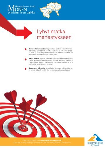 Lyhyt matka menestykseen - Kehittämiskeskus Oy Häme