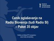 Paket 35 objav - RTV Slovenija
