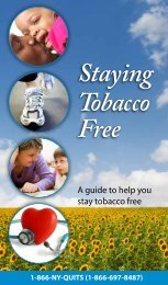 Staying Tobacco Free - New York Smokers Quitline