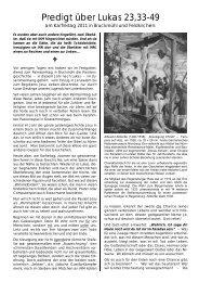Predigt über Lukas 23,33-49