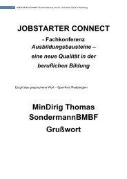 Grußwort Thomas Sondermann BMBF_Februar 2013 - QualiBe