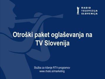 Otroški paket oglaševanja na TV Slovenija - RTV Slovenija