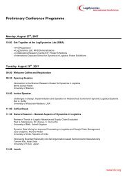 Preliminary Conference Programme - LDIC 2007