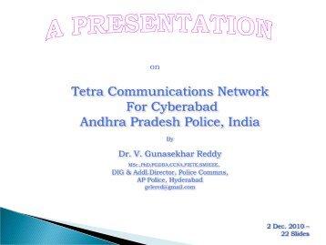 Tetra Communications Network For Cyberabad Andhra Pradesh ...