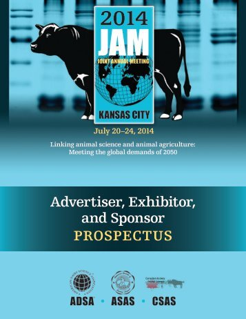 Sponsor and Exhibitor Prospectus - American Society of Animal ...
