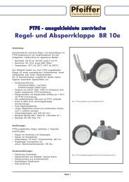 Regel- Absperrklappe BR 10e - Pfeiffer Chemie