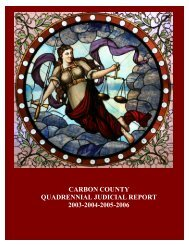 carbon county quadrennial judicial report 2003-2004-2005-2006