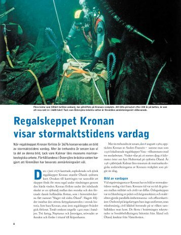 Regalskeppet Kronan visar stormaktstidens vardag - Havet.nu