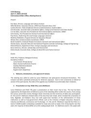 UCIA Meeting April 17, 2009 2:30-4:00 International Affairs Office ...